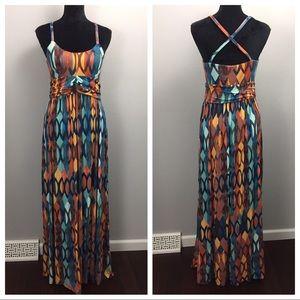 Maeve Anthro Noetzie Stretch Jersey Maxi Dress